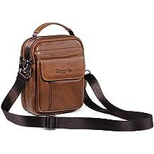 Genuine borse in pelle uomo Top-handle Custodia Marsupio Bag Small Messenger Bag Mobile Phone Holster con maniglia / tracolla ¡