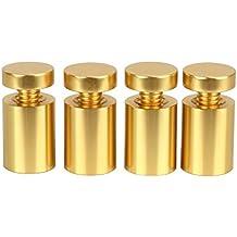 Sign Standoff 19MM * 25MM, Aluminio amarillo, Para acrílico, Vidrio, PVC,
