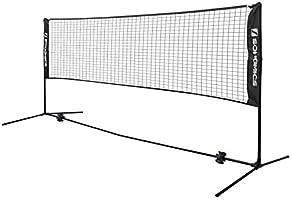 Songmics Badmintonnet, tennisnet, in hoogte verstelbaar, set bestaande uit net, stevig ijzeren frame en transporttas