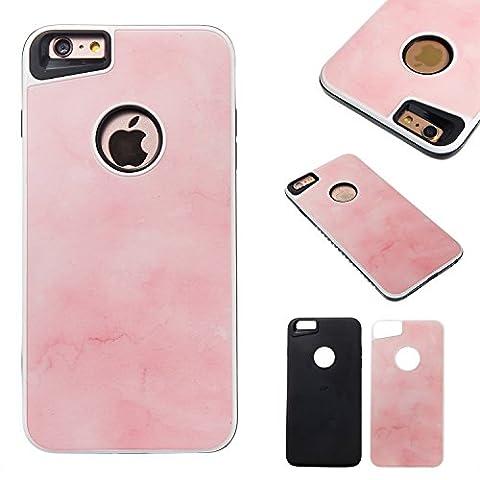 Coque Apple iPhone 6s Plus(5.5 Zoll ) , Ecoway rose tendre Design TPU Enveloppe intérieure souple et PC couverture rigide 2-in1 protection le capot arrière Pour Apple iPhone 6s Plus(5.5 Zoll ) - rose