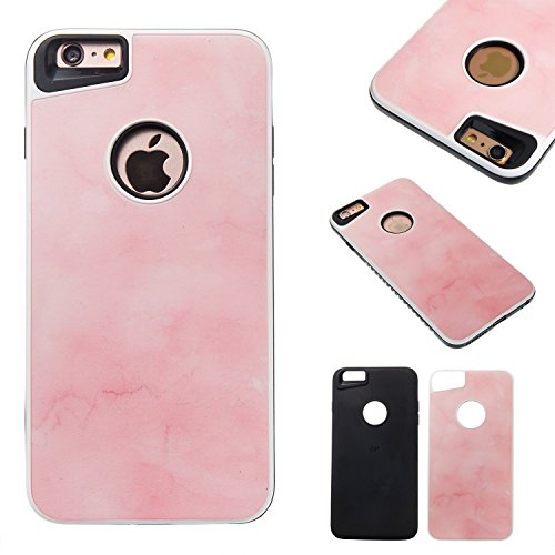 Apple iPhone 6 / 6S Plus (5,5 Inch) Case, BONROY® Apple iPhone 6 / 6S Plus (5,5 Inch) Marble pattern series Case Bumper 2 in 1 hybrid silicone TPU hard plastic Shockproof Case Resist Protection Shell for Apple iPhone 6 / 6S Plus (5,5 Inch)
