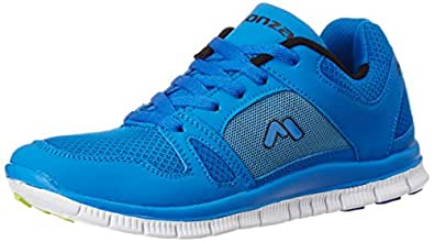 Monza Men's River Blue Mesh Running Shoes - 11 UK