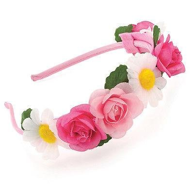 Tissu rose Daisy Rose Festival Alice bande