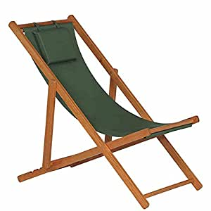 Siena garden 732152 faro chaise longue bois dur vert for Black friday chaise longue