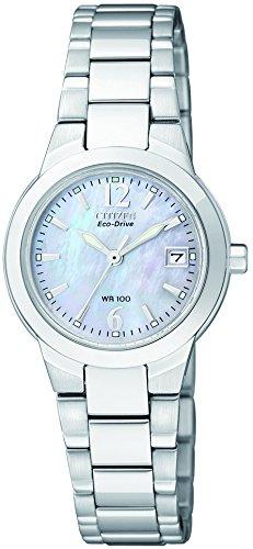 Citizen EW1670-59D – Reloj analógico de cuarzo para mujer, correa de acero inoxidable color plateado