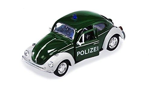Unbekannt Sunny Toys 53705 - VW Käfer 'Polizei' mit Rückzug, Circa  12 cm