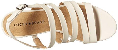 Lucky Brand Larinaa Femmes Cuir Sandales Compensés Linen