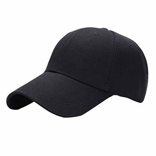 Beautyjourney Casquettes De Baseball, Casquette De Baseball Noir Casquette Running,Camouflage Unisexe Fahsion Casquette De Baseball Snapback Hat (Noir)