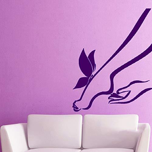 xingbuxin Frau Füße Wandtattoos Home Wohnzimmer Kunstdekor Wandaufkleber Salon Girl Serie Special Wall Murals Wall Sticker Girl 3 57x57cm