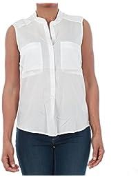 Vero Moda Camisa Mujer Blanco 10192814 VMERIKA Mix S/L Shirt NFS Snow White