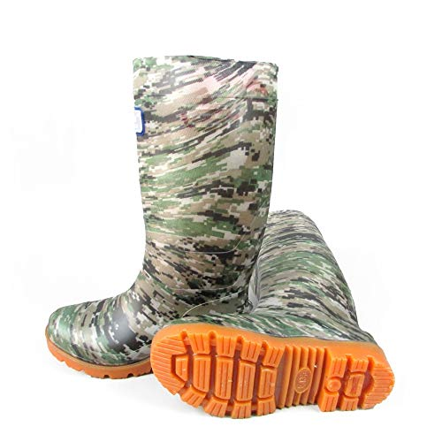Mens Wellington Boots,Rubber Shoes,High Tube Camouflage Oil Resistant Waterproof and Anti Skid Shoes,Acid and Alkali Resistant Wear Boots,Easy to Clean,Best for Wet Weather