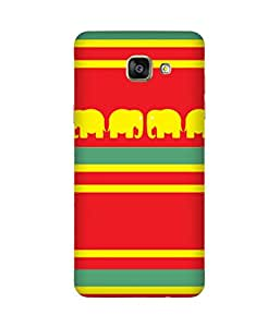Stripes And Elephant Print (4) Samsung Galaxy A5 2016 Edition Case