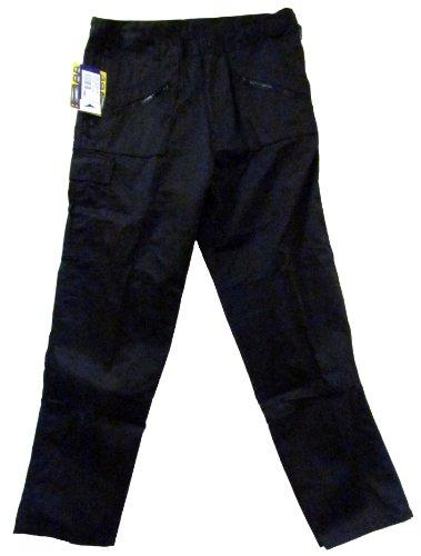 Portwest Pantalon de travail avec poches genouillères Noir Longueur des jambes 84 cm