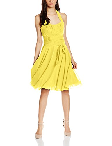 Astrapahl co8002ap, Vestido para Mujer, Amarillo (Gelb) 36