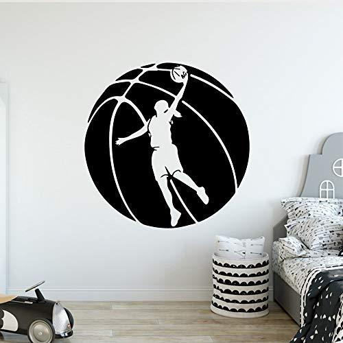 kyprx Basketball Wandaufkleber Moderne Mode Wandaufkleber Für Küche Restaurant Dekoration Zubehör rot L 43 cm X 43 cm
