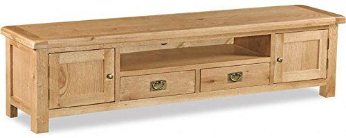 Winchester Oak Extra Large Low Line TV Unit