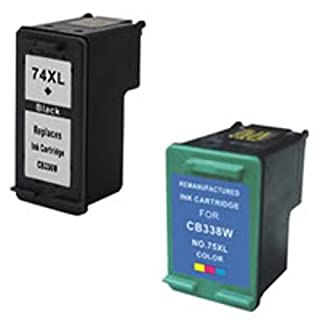 Amsahr 74XL(CB336WN) Remanufactured Replacement HP Ink Cartridges for Select Printers/Faxes with 1 Black and 1 Color Ink Cartridges by Amsahr