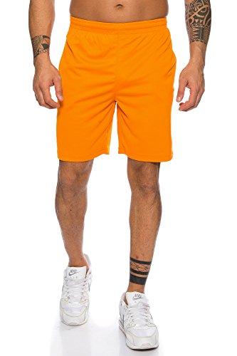 Raff & Taff Herren Shorts Bermuda Sportshorts Sporthose Funktionshose Traningshose schnell trocknend (Orange, M)