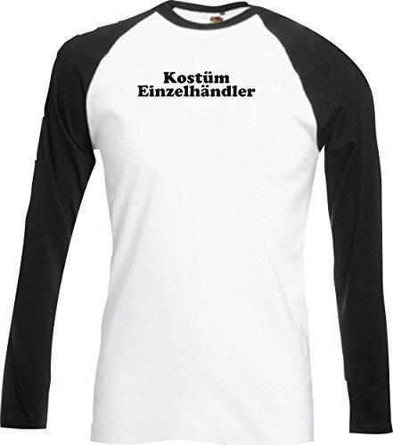 Base Long Shirt Karneval Kostüm Einzelhändler Fasching Karneval Verkleidung, Farbe schwarz, Größe XXL (Kostüme Einzelhändler)
