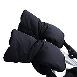 Baby Trolley Handschuhe Handmuff Handwärmer Handschuhe für Kinderwagen Kinderwagenmuff Schwarz