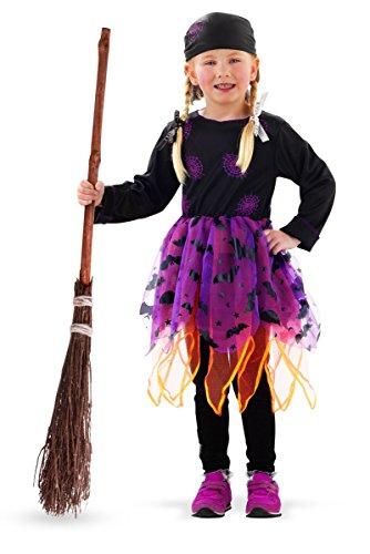 Folat 23680 Halloween Hexen-Kleid Lila 98-116,