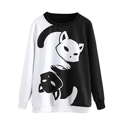 BaZhaHei Blusa, Camisetas Mujer Sudadera Capucha Manga
