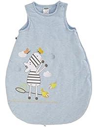 JACKY Baby Jungen Babyschlafsack Bettwäsche Blau mit Zebra-Stickerei
