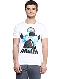 Wear Your Mind White Cotton Round-Neck Printed T-shirt For Men TSS186.1