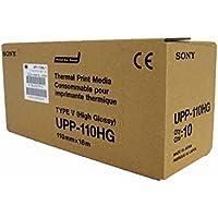 Sony Corporation UPP110HG Kit 10 Rotoli di Carta Termica Ultralucida per Stampante Medicale, A6, 110 mm x 18 m