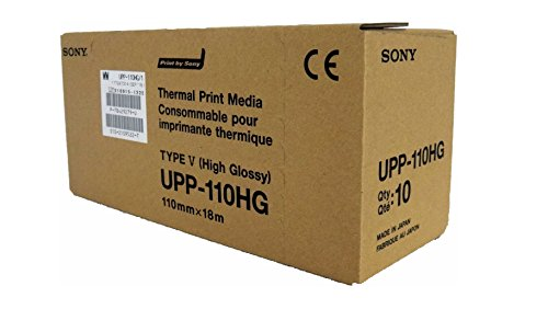 sony-upp110hg-high-glossy-videographic-thermal-paper-rolls-for-medical-printers-a6-110mm-x-18m