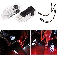 Liuer 2PCS Iluminación de la entrada de la luz del coche LED 3D Luz de la lámpara del logotipo del proyector de bienvenida Shadow Logo Projector Lights A1 A3 A4 A5 A6 A7 A8 Q3 Q5 Q8 TT