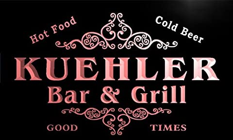 u24654-r KUEHLER Family Name Bar & Grill Home Beer Food Neon Sign Barlicht Neonlicht Lichtwerbung