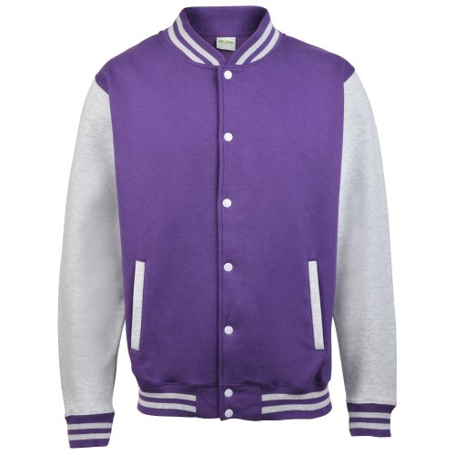 Awdis Varsity jacke Purple/Heather Grey