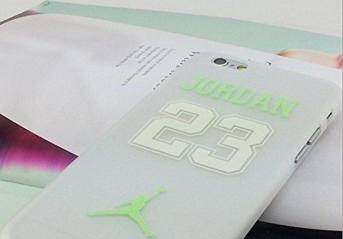 Air Jordan Luminous PC Weiß Hard Case für Apple iPhone 5/5S & 6/6S, CRACK BLUE, APPLE IPHONE 6/6S GREEN NO.23