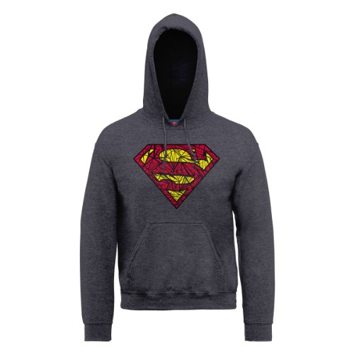 DC Comics, Felpa Uomo grigio (Grey (Dark Heather))