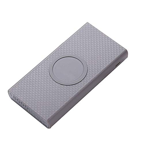 LOVEWO Qi Wireless Portable Charger, 12000mah Fast Charging Mobile Power for iPhone 8/8 Plus, Samsung S7 S8 S8 S9, Note 7 8, iPhone X Xr XS Max,Gray