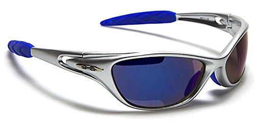 X-Loop Sonnenbrillen - Sport - Radfahren - Skifahren - Laufen - Driving - Motorradfahrer / Mod. 1170 Grau Blau / One Size Adult / 100% UV400 Schutz