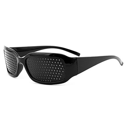 Grenhaven Schwarze Rasterbrille/Lochbrille für Augentraining Pinhole Glasses