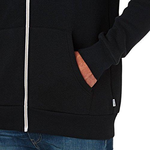 Converse Herren Sportkapuzenpullover Core Full Zip Hoodie Schwarz