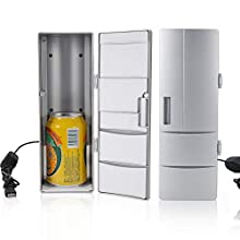 VIFERR Mini Refrigerator, Compact Mini USB Fridge, Portable USB Cooler Warmer Freezer for Travel Car Office Use