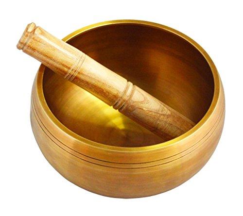 Zap Impex® Diseño antiguo tibetischen Cuenco tibetano con bastón de madera para meditación, curación, la oración, Yoga, y mindfulness regalo perfecto