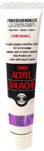 Turner : Acrylic Gouache Paint : 20ml : Lame Purple Peridot 227