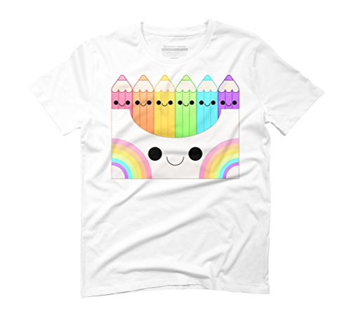 kawaii pencil box Men's Graphic T-Shirt - Design By Humans White