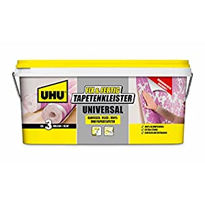 UHU Tapentenkleister Fix & Fertig Universal, Gebrauchsfertig angerührter und klumpfreier Kleister für schnelles und sauberes Tapezieren, 2,5 kg