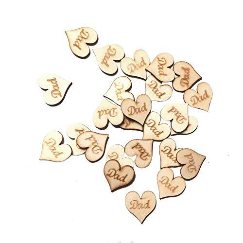 25 STÜCKE Handgefertigte Holz Hängende Herz Plaque Geschenk für Papa Diese Vatertag Neuheit Spaß Andenken