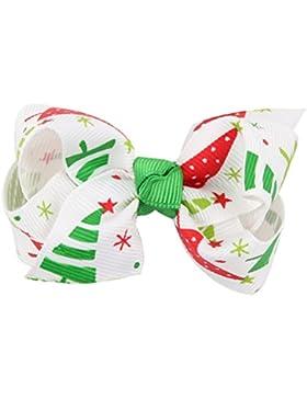 Zhhlaixing Christmas Children Kids Baby Bowknot Hairpin Headdress Big Bow Hair Clips Boutique Ribbon Hairpin Hair...