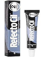 RefectoCil 2 Wimpernfarbe, Augenbrauenfarbe Blauschwarz, Wasserfeste Intensivfärbung, 15ml