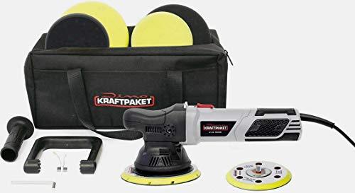 Dino KRAFTPAKET Exzenterpoliermaschine 230V 900W 1600-4200 U/min 125/150mm 15mm Hub 640301 Exzente