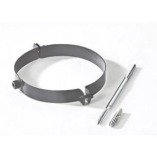 Ø 120 mm - Ofenrohr Rohrschelle Gussgrau