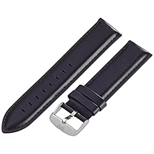 Daniel Wellington Herren Uhren-Armband Classic Sheffield Leder schwarz Schliesse silber DW00200020, 20mm